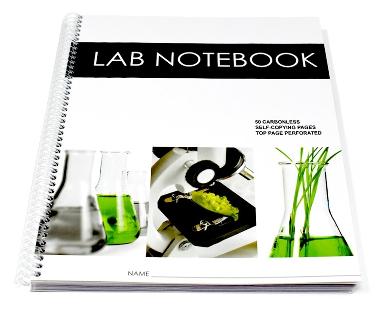 Lab Notebook 50 Pages Spiral Bound (Top Page Perforated)