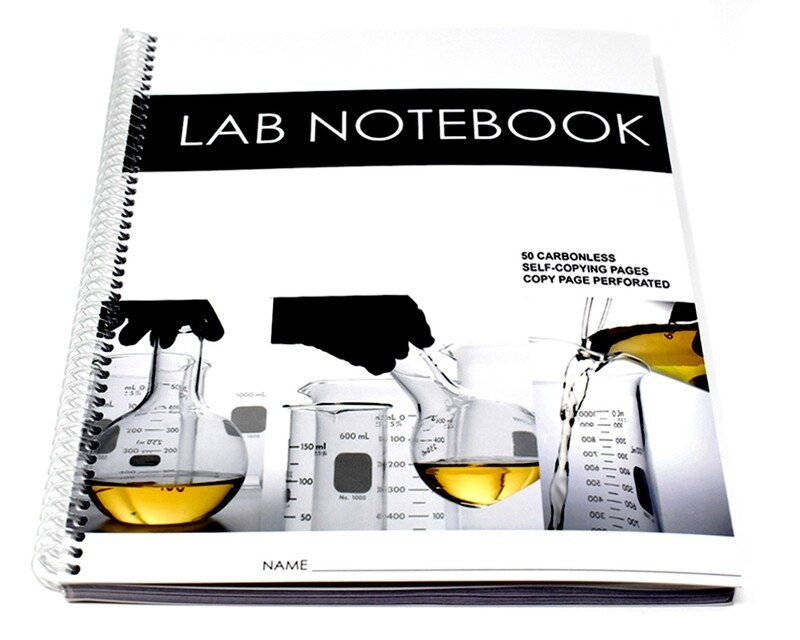 Lab Notebook 50 Pages Spiral Bound (Copy Page Perforated)