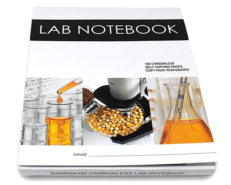 Lab Notebook 100 Pages Top Permanent Bound Glued  (Copy Page Perforated)
