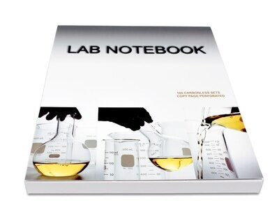 OLD DESIGN COVER Lab Notebook 100 Pages Top Permanent Bound Glued  (Copy Page Perforated)