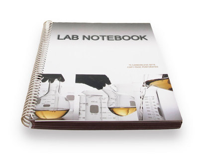 Lab Notebook 75 Pages Spiral Bound (Copy Page Perforated)
