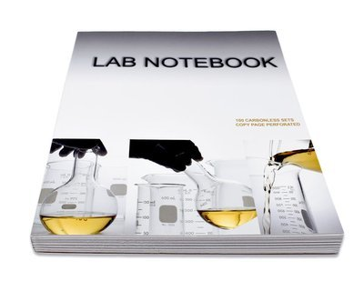 Lab Notebook 100 Pages Permanent Side Bound Glued (Copy Page Perforated)