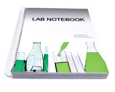 Lab Notebook 100 Pages Spiral Bound (Top Page Perforated)