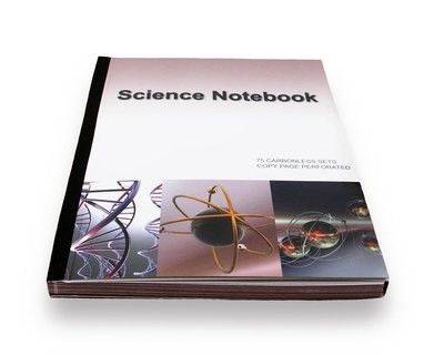 Science Lab Notebook 75 Pages Permanent Side Bound Tripple Stapled (Copy Page Perforated)