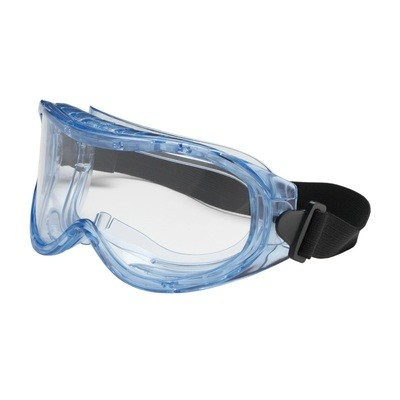 Indirect Vent Goggle, Clear Lens and Anti-Scratch / Anti-Fog Coating Meets ANSI Z87.1