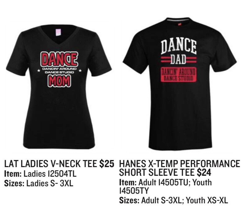Dance MOM/ Dance DAD Tee