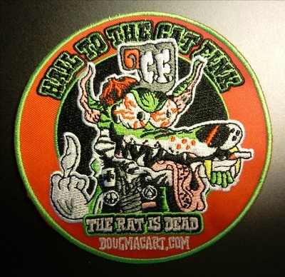 cat fink embroidered patch 5