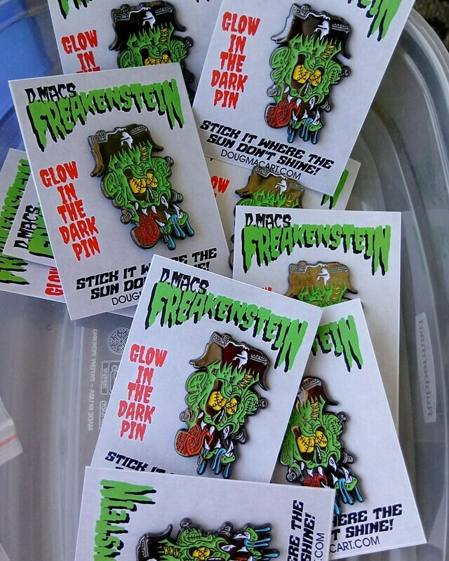 Freakenstein Glow In The Dark Pin