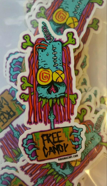 free candy sticker 1.5x3.5