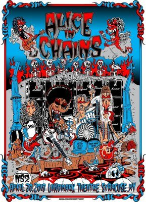 Alice In Chains Commemritive Poster Only 30 Printed For Band Members And Management.I Have 30 I am able to sell all signed And Numbered 14.5x20.5 ONLY 2 left