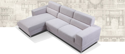 THOLEN, L Shape Sofa with Chaise on left side