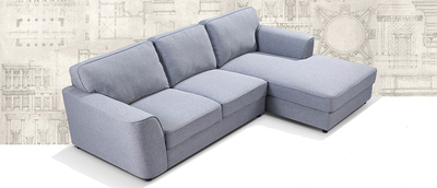 SNEEK, L Shape Sofa with Chaise on right side