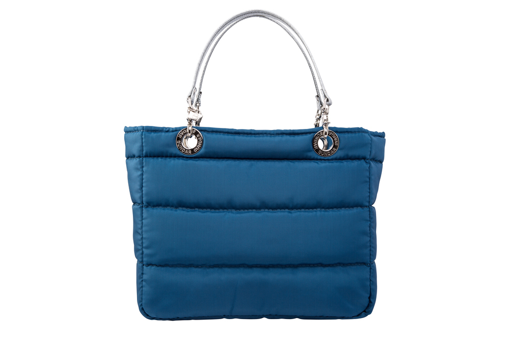 Bolsa Basica Azul Cobalto con Cierre