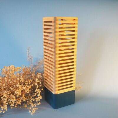 Pop_Modular lamp: Blue & Maple