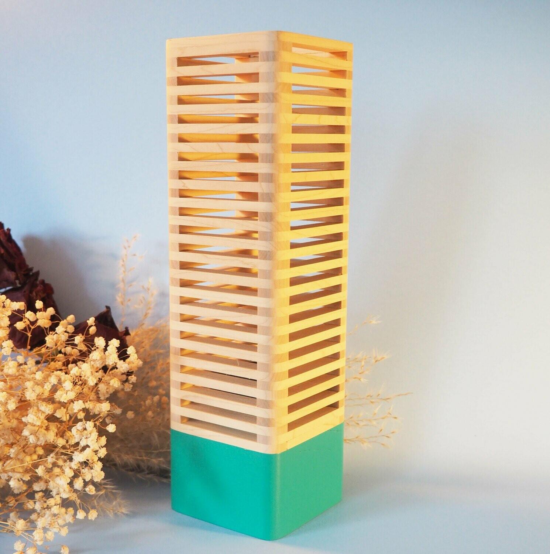 Pop_Modular lamp: Emerald & Maple