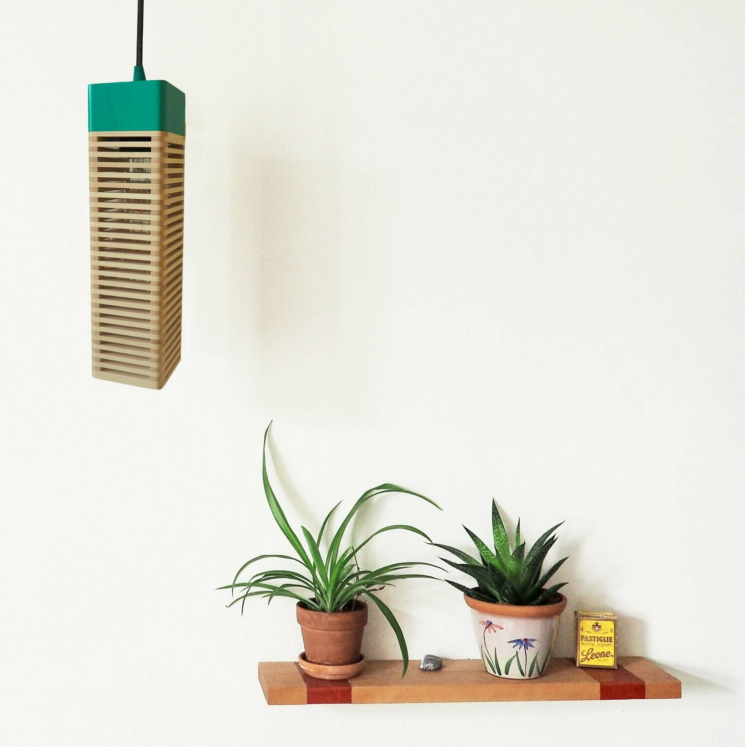 Tonight_Hanging Lamp: Maple & Emerald