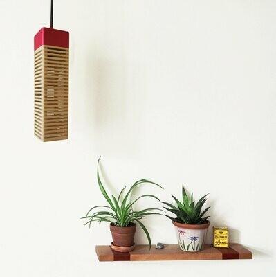 Tonight_Hanging Lamp: Maple & Pink