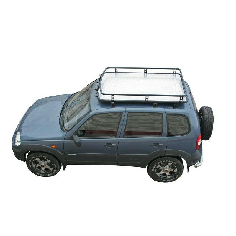 Багажник экспедиционный «Трофи» с алюминиевым листом, Chevrolet Niva/Lada Niva (07.2020 -)