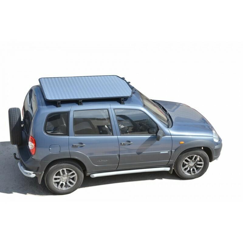 Багажник - платформа экспедиционный «Трофи» с алюминиевым листом, Chevrolet Niva (03.2009 - )/Lada Niva (07.2020 -), Niva Travel