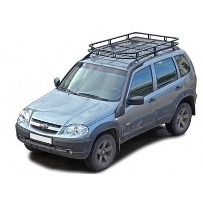 Багажник экспедиционный «Трофи» с сеткой, (на заводские / штатные/ рейлинги), 2123 «Шеви»