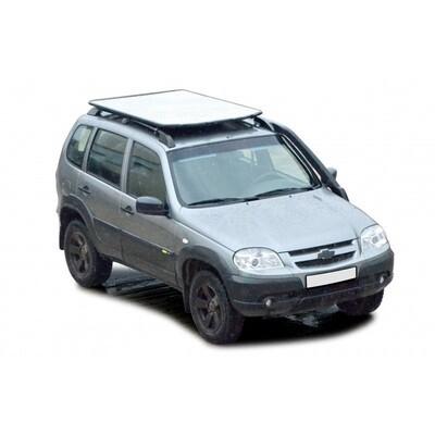 Багажник - платформа экспедиционный «Трофи» с алюминиевым листом (монтаж на рейлинги), 2123 «Шеви»