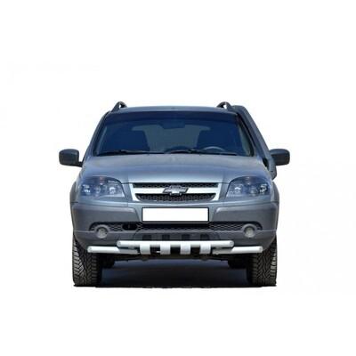 Защита переда «Труба двойная люкс» (Ø=51 мм), Chevrolet Niva (03.2009 -)/Lada Niva (07.2020 -)