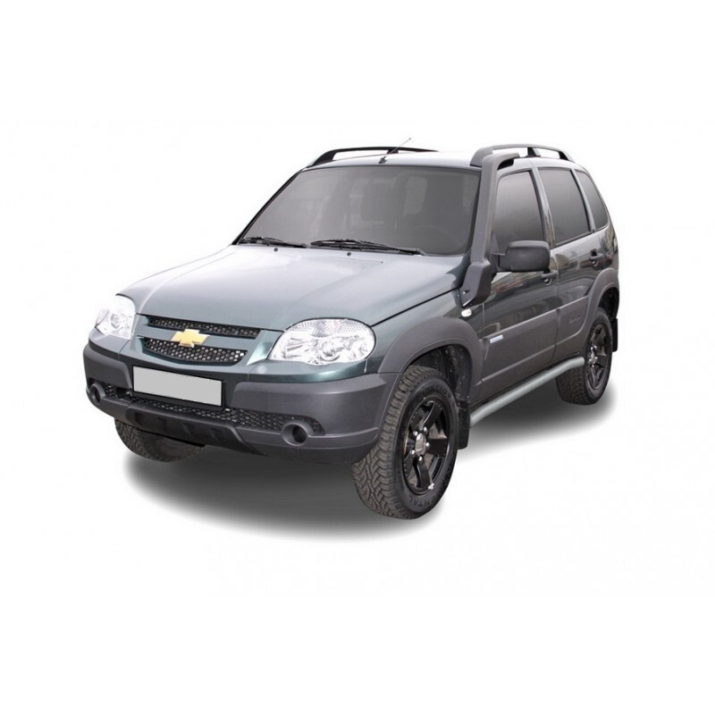 Защита порогов усиленная «Труба» (Ø=60 мм), Chevrolet Niva (03.2009 - )/Lada Niva (07.2020 -)