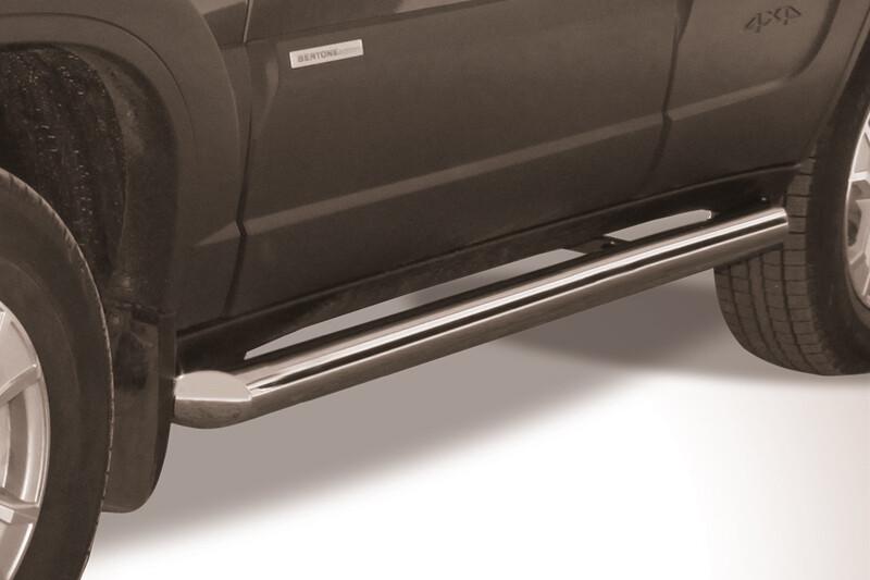 Защита порогов труба (нержавеющая сталь, Ø76 мм)