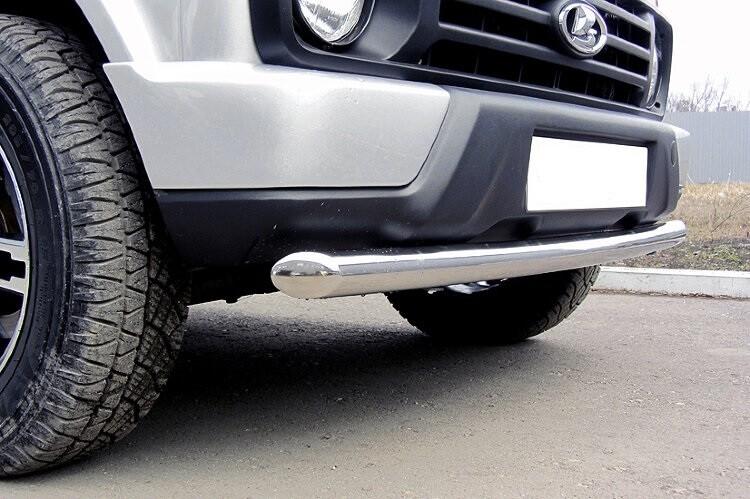Защита переднего бампера радиусная (нержавеющая сталь, Ø57 мм)