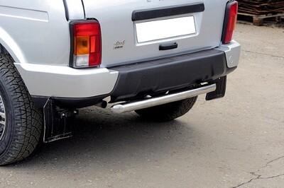 Защита заднего бампера короткая (нержавеющая сталь, (Ø57 мм)