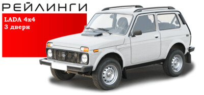 Рейлинги серебристые для Lada 4x4 (3 дв / Urban 3 дв)