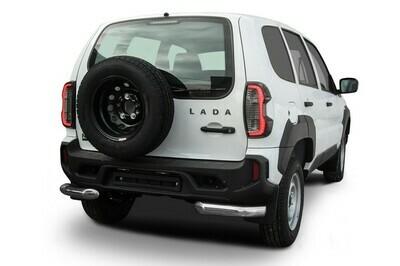 Защита заднего бампера d76 мм Lada Niva Travel (2021)