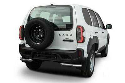 Защита заднего бампера d57 мм Lada Niva Travel (2021)