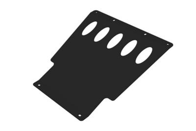 Защита двигателя под кронштейн для стационарного крепления лебедки Lada 4x4 сталь 3мм
