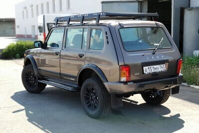 """Силовой задний бампер """"URBAN"""" для Lada 4x4 под стандартные и доработанные арки"""