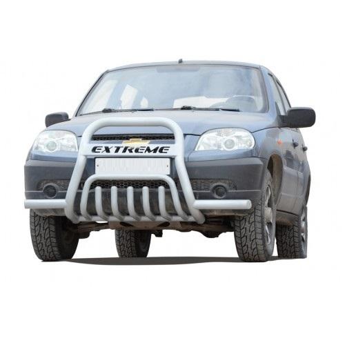 Передок с дополнительной защитой двигателя «Низ с трубой с усами», Chevrolet Niva (03.2009 -)/Lada Niva (07.2020 -)