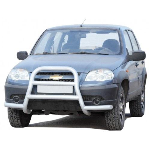 Защита переда «Высокая с усами» с двумя перемычками, Chevrolet Niva (03.2009 -)/Lada Niva (07.2020 -)