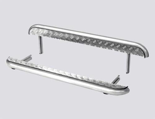 Пороги с алюминиевым листом, Диаметр=51мм  (3дв., Urban 3дв.). Комплект