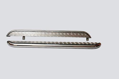 Пороги с алюминиевым листом, Диаметр=63,5мм, нержавейка (3дв., Urban 3дв.). Комплект