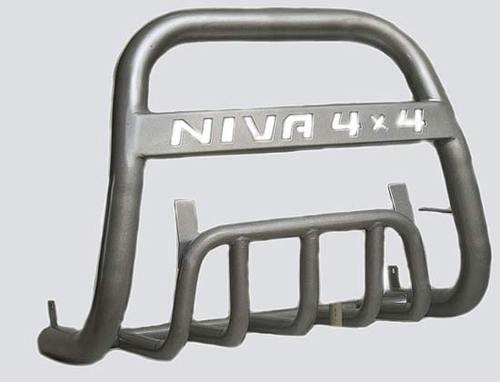 Дуга передняя с защитой «Нива 4х4» Диаметр=63.5мм (3 дв./5 дв.)