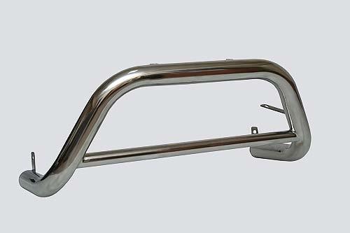 Защита переда «Низкая» (Ø=63,5 мм), Chevrolet Niva (- 03.2009) (нержавеющая сталь)
