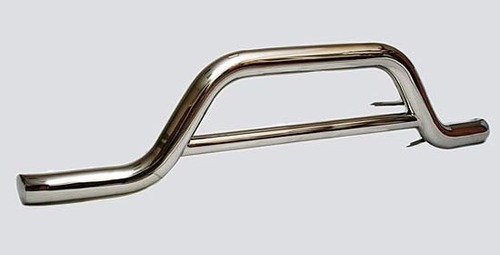 Защита переднего бампера «Волна» (Ø=76 мм), Chevrolet Niva (- 03.2009) (нержавеющая сталь)