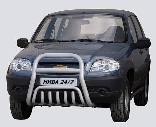 Передок с дополнительной защитой двигателя «Труба сверху», Chevrolet Niva (03.2009 -)/Lada Niva (07.2020 -)