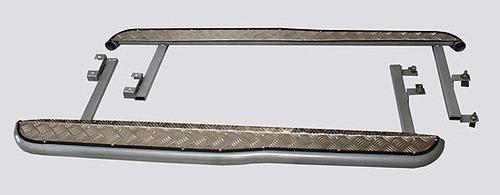 Пороги с алюминиевым листом с перегибом, (03.2009 -)/Lada Niva (07.2020 -)