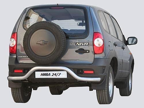 Защита заднего бампера «Волна», Chevrolet Niva (03.2009 -)/Lada Niva (07.2020 -)