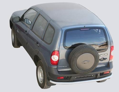 Защита заднего бампера «Коромысло», Chevrolet Niva (03.2009 -)/Lada Niva (07.2020 -)