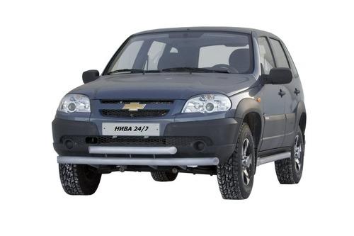 Защита переда «Труба двойная» (Ø=63,5 мм) Chevrolet Niva (03.2009 -)/Lada Niva (07.2020 -)