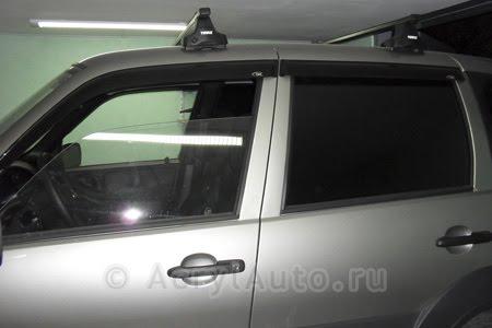 Дефлекторы дверей накладные Niva Chevrolet (комплект)