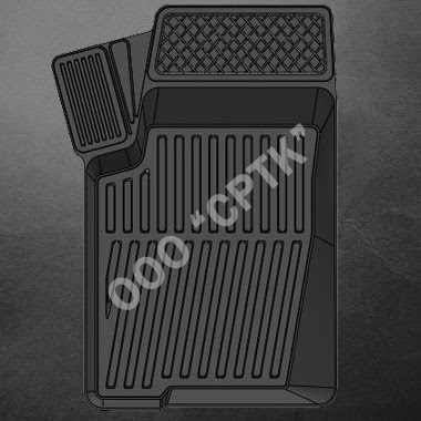 """Автомобильные коврики (резиновые) """"Люкс"""" для Chevrolet NIVA (комлект)"""