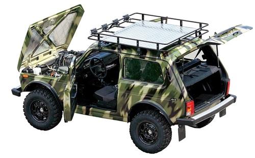 Экспедиционный багажник с алюминиевым листом (3 дв. / Urban 3дв.) 8 опор